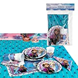 Disney - Pack de fiesta reciclable Frozen: mantel, platos, vasos,...